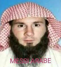 نسخة ارهابية من ميسي وتف/ no se lo que dice ahi - meme