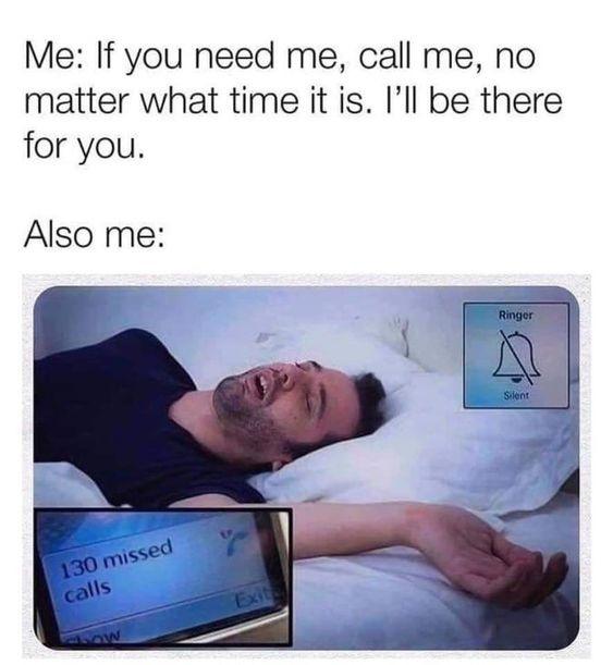 u can't call me when i'm asleep:)) - meme