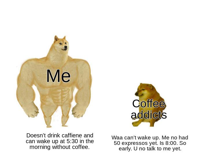Mortals have caffeine. I have ADHD. - meme