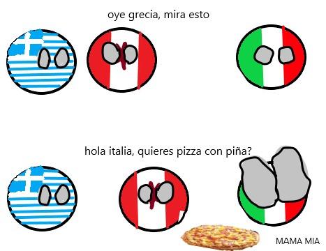 si te gusta la pizza con piña, sal de mi momo ahora mismo :darkstare: - meme