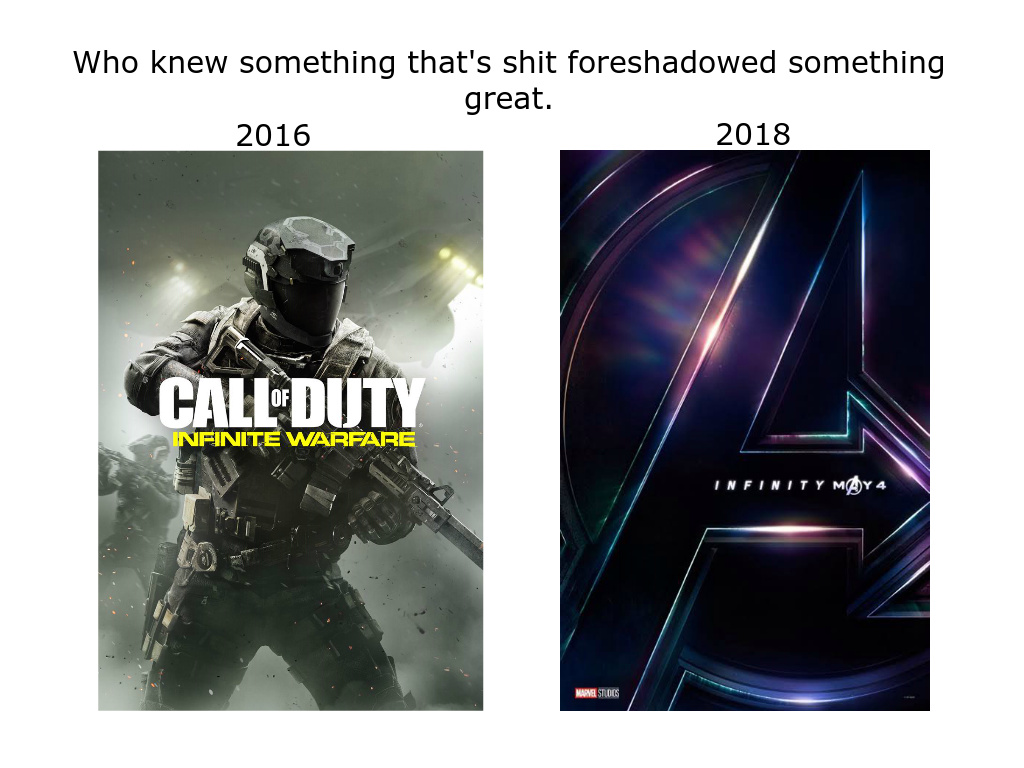 Infinity Ward Knew What's Up - meme