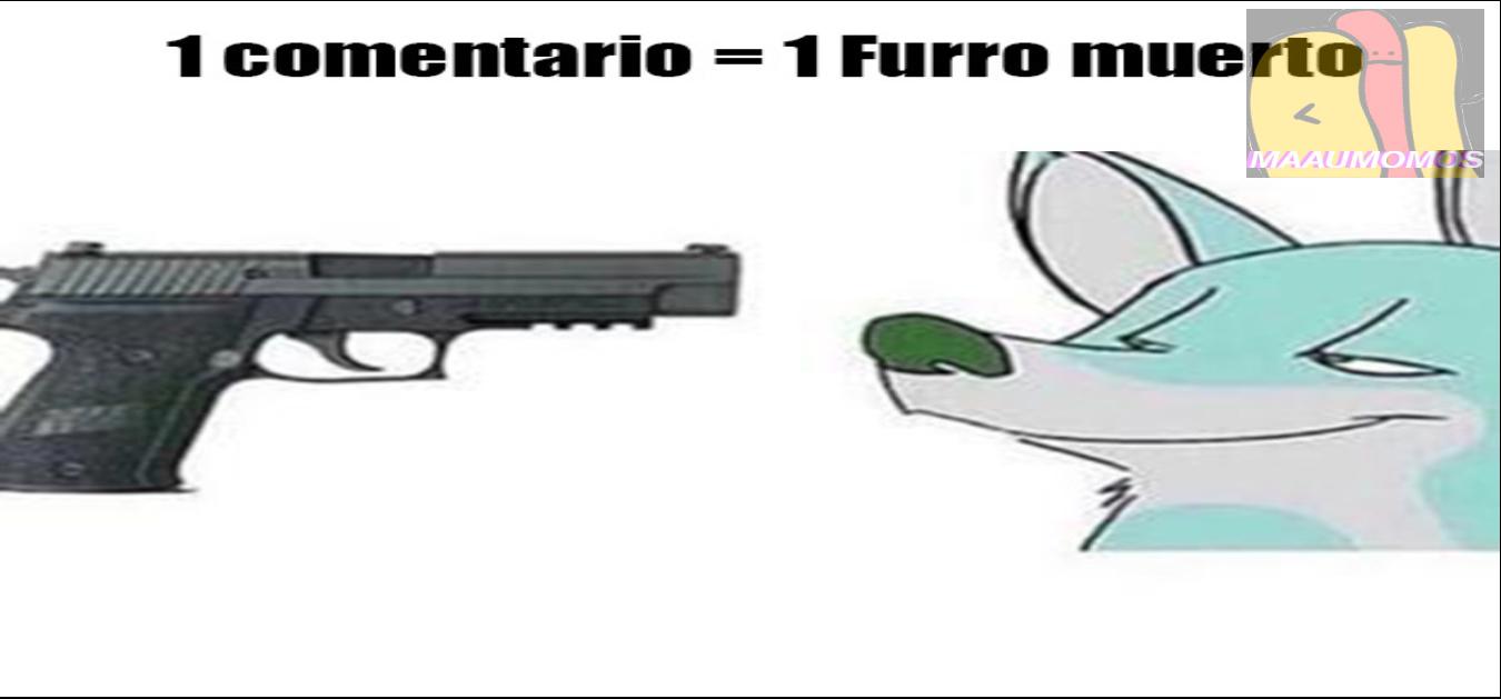 1 comentario= 1 furro muerto - meme