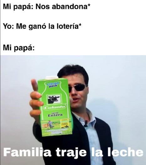 Leche - meme