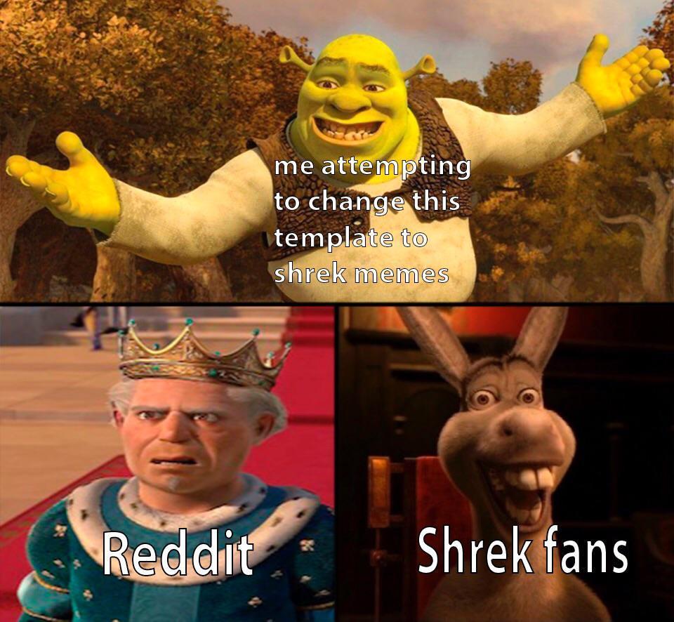 New Shrek Format - meme