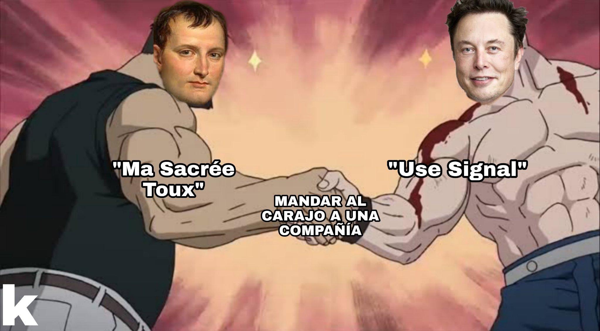 Napoleón Buenas partes y el Elon Musgos - meme
