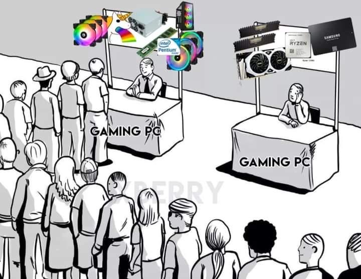 pc gamer na americanas magazine Luiza - meme