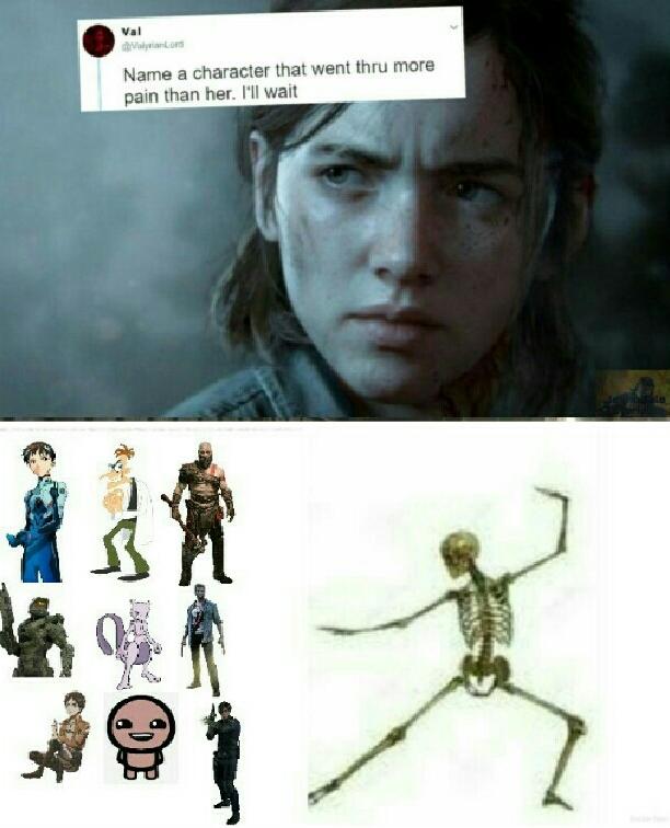 Shinji, Doof, Kratos, Master Chieg, Mewtwo, Logan, Eren, Isaac, Leon Kennedy - meme