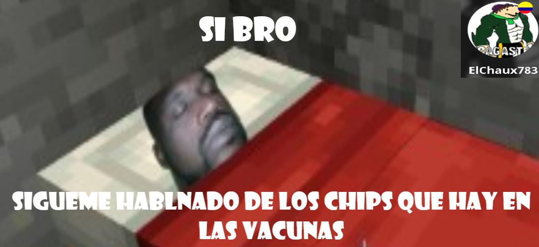 Chip vacuna - meme