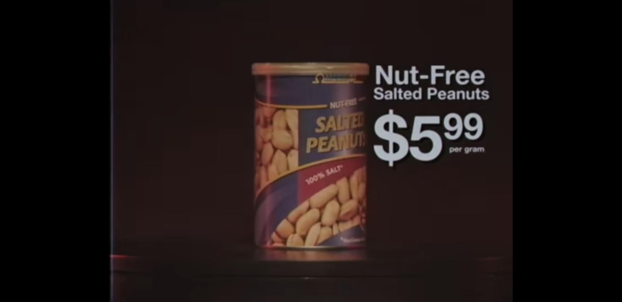 Nut free salted peanuts - meme