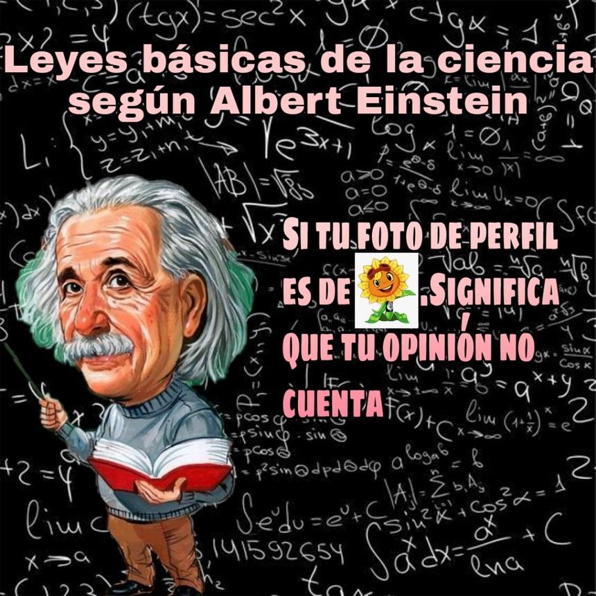 Si Albert Einstein lo dice debe de ser por algo - meme