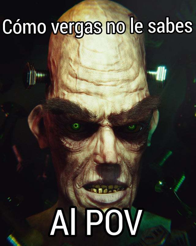 COMO VERGAS NO LE SABES AL POV - meme