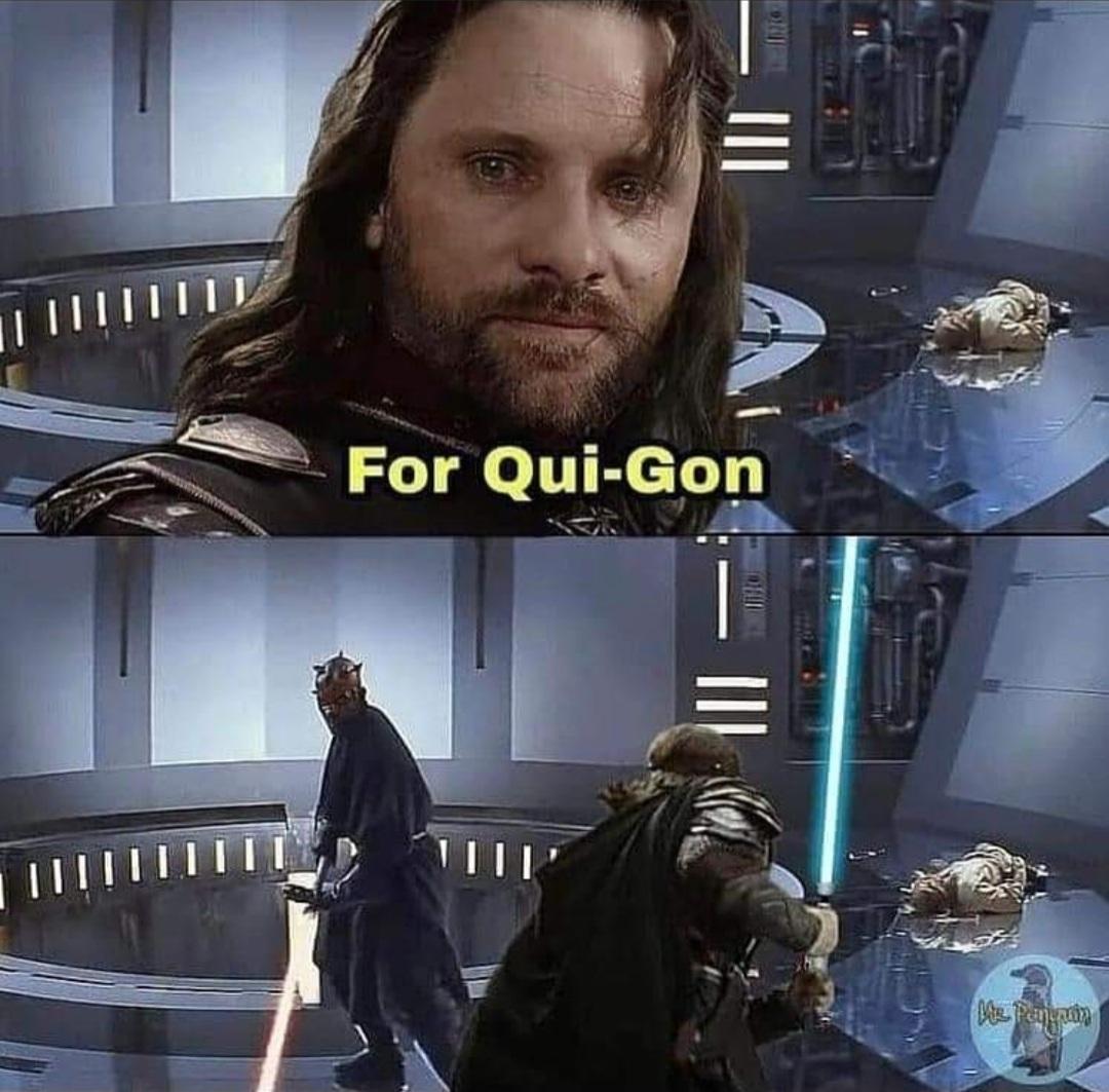 Il a poignardé Qui-Gon au mont Naboo - meme