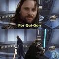 Il a poignardé Qui-Gon au mont Naboo