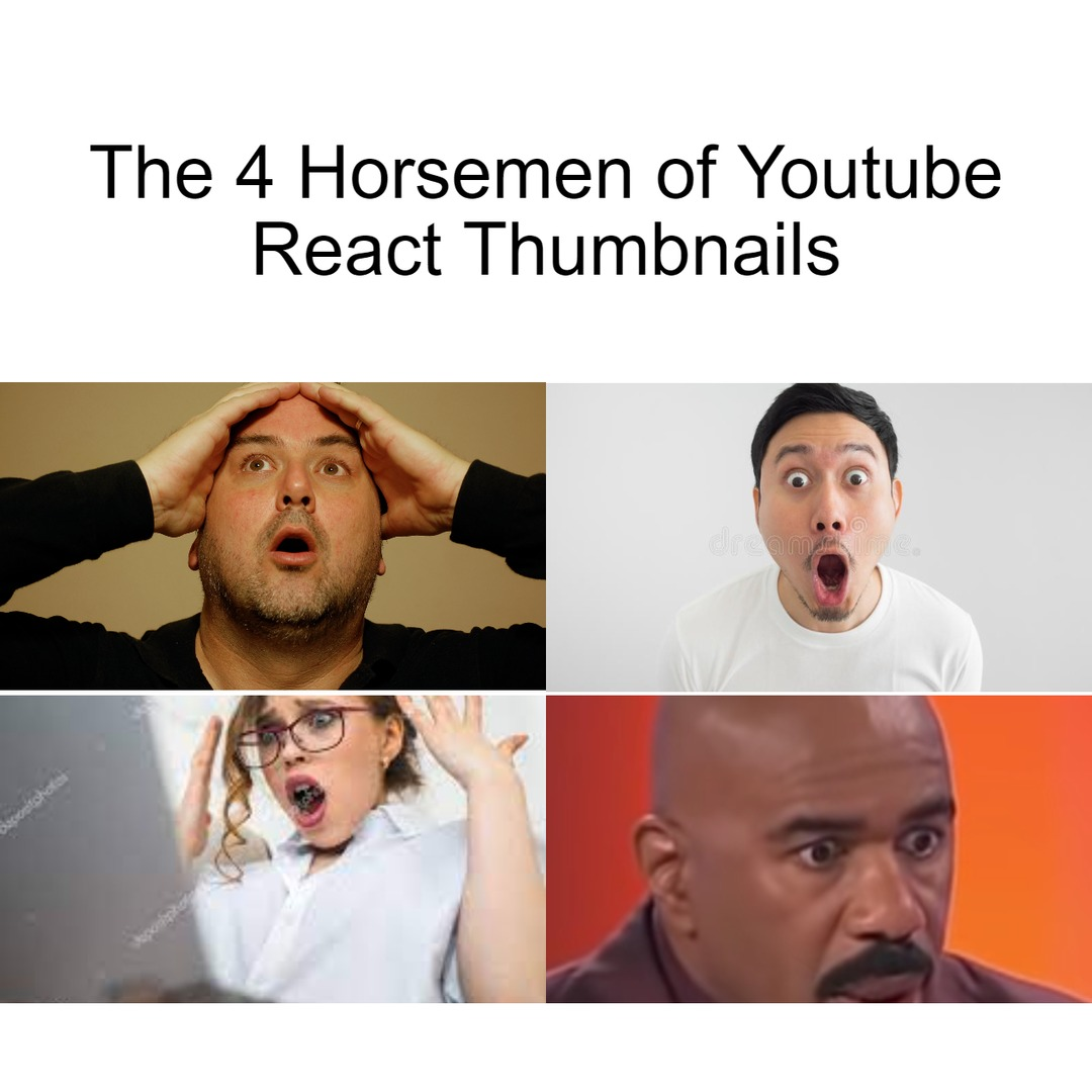 The faces are usually more interesting than the video - meme