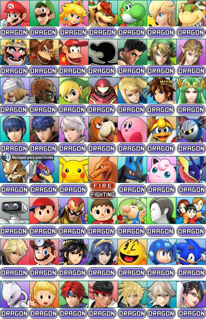 Si los personajes de smash tuvieran un tipo por gamefreak :v - meme