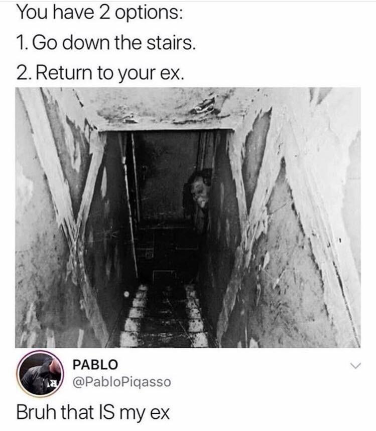 spooky ex - meme