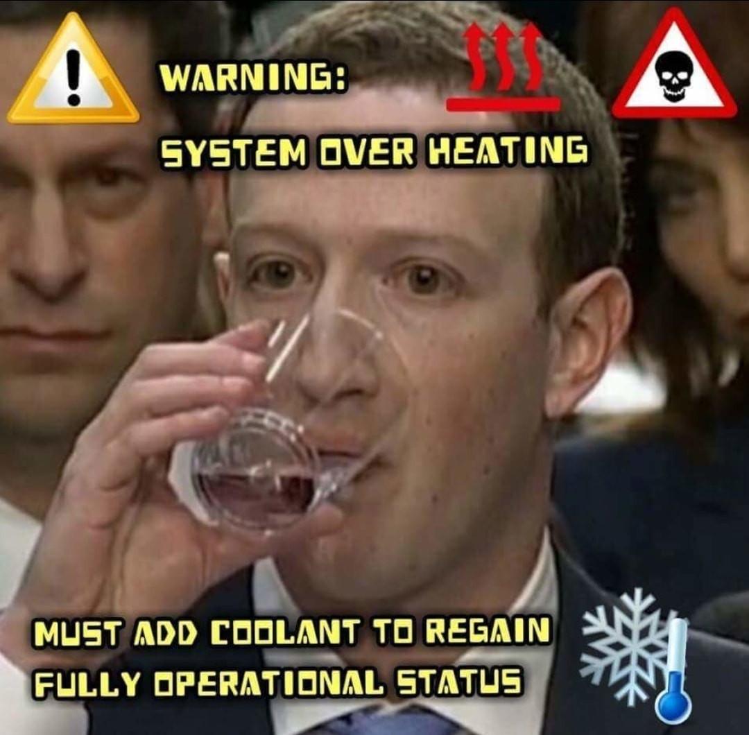 Another Z U C C water meme
