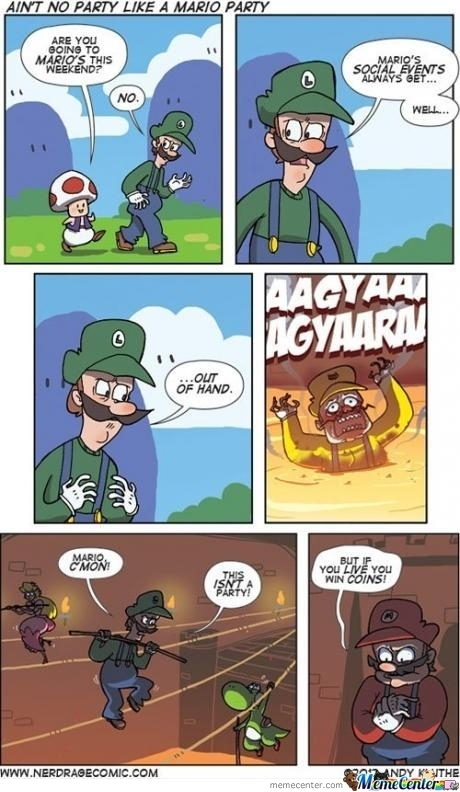 "Mario's ""Party"" - meme"