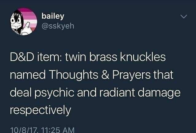Thoughts & prayers - meme