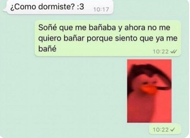 Bañarse:3 - meme