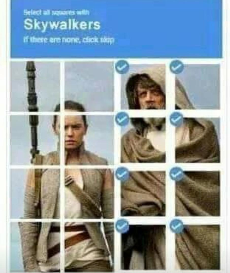 Not a skywalker - meme