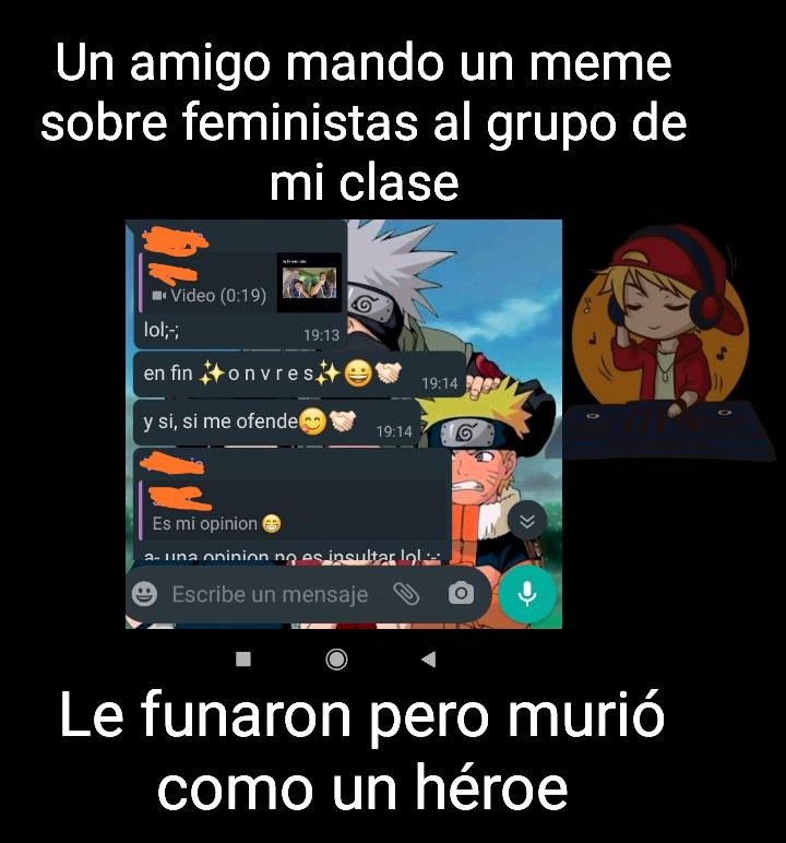 F por ese héroe - meme