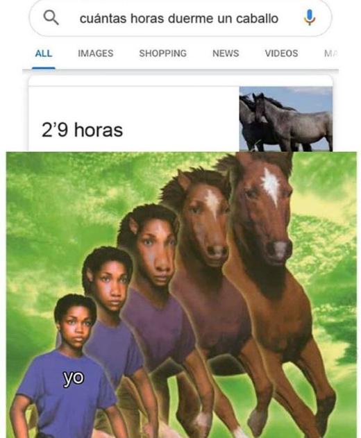 Soy un caballo :0 - meme