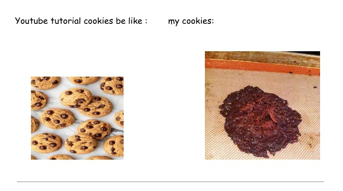youtube cookies vs mine - meme