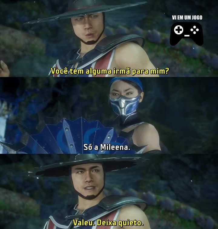 Kung Lao ta muito exigente...quem não passaria o cerol na Mileena? - meme