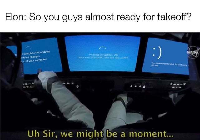So you guys almost ready to takeoff - meme