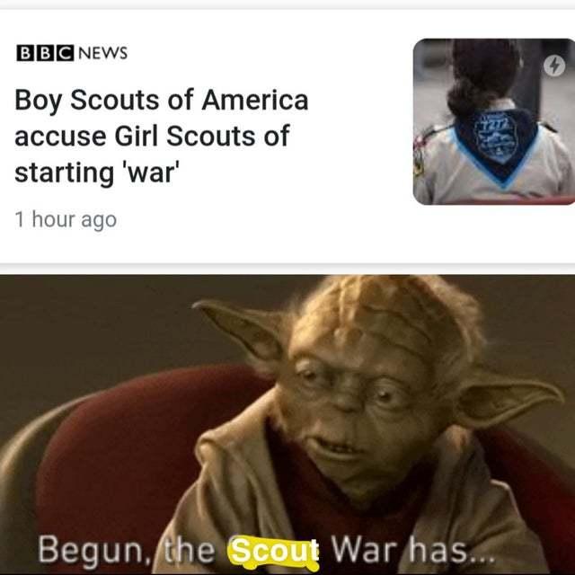 The scout war - meme