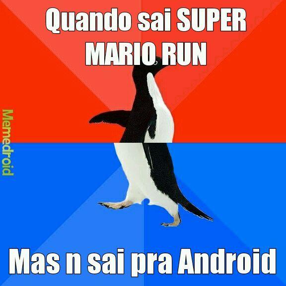 Super mario n saiu pra Android - meme