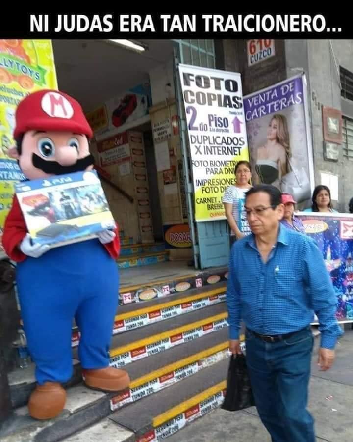 ni Mario verde haría eso :( - meme