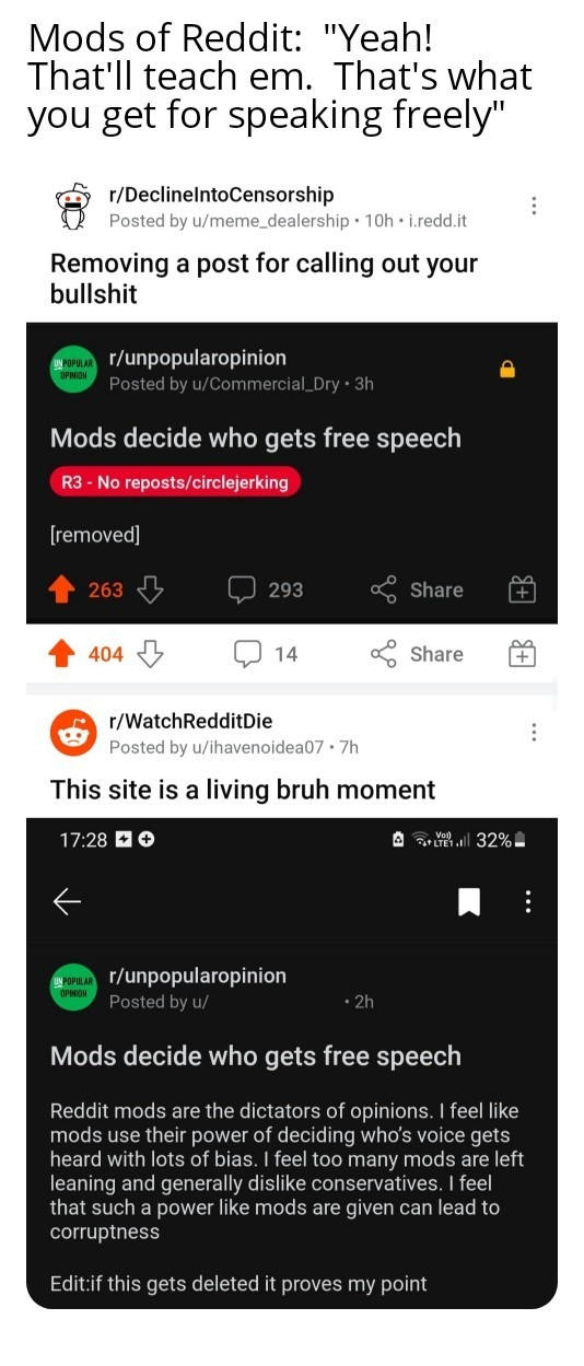 Mods of Reddit are getting ridiculous - meme