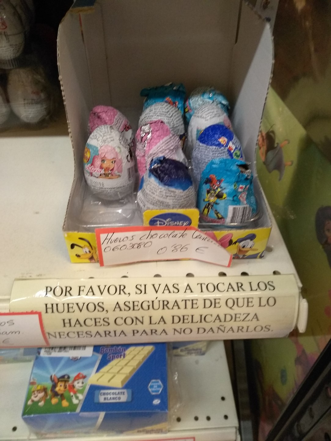 En la tienda de chocolate... - meme