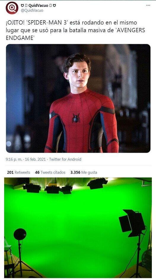 Todos los fans de Marvel: hAy QuE vIsItAr El SeT dE eNdGaMe :genius: - meme