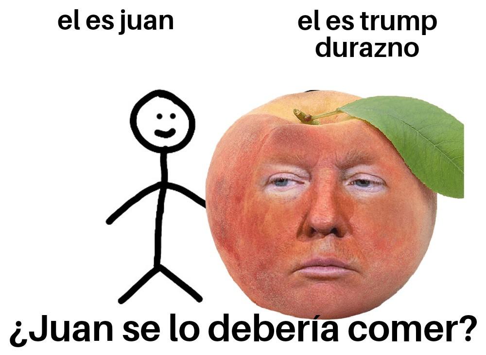Trump durazno - meme