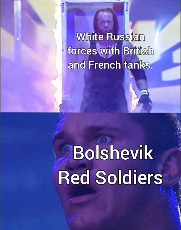 Russian Civil war - meme