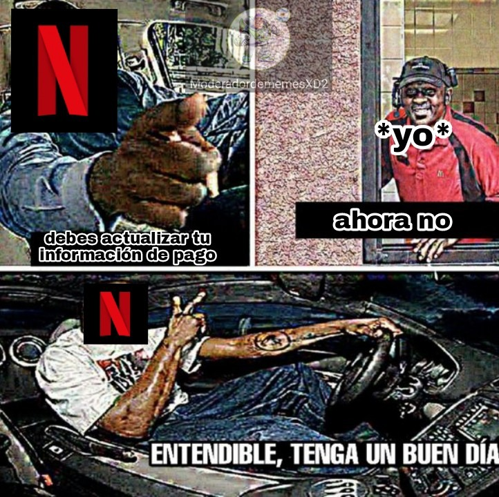 Ahora no *continúa viendo Netflix* :chad: - meme