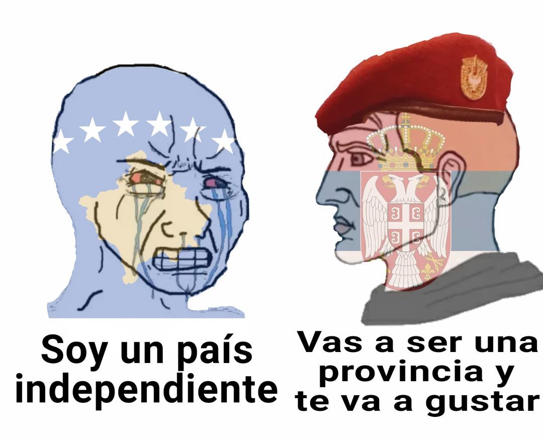 Fuck Kosovo, all my homies prefer Serbia - meme