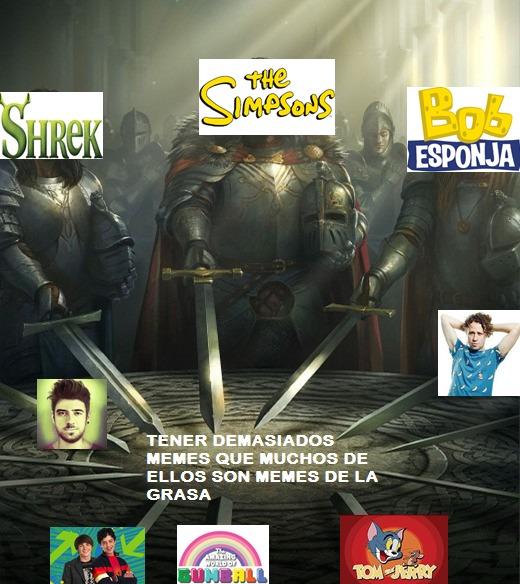 CREO QUE ME FALTAN MAS PERO ESTOS SON LOS QUE CONOSCO - meme