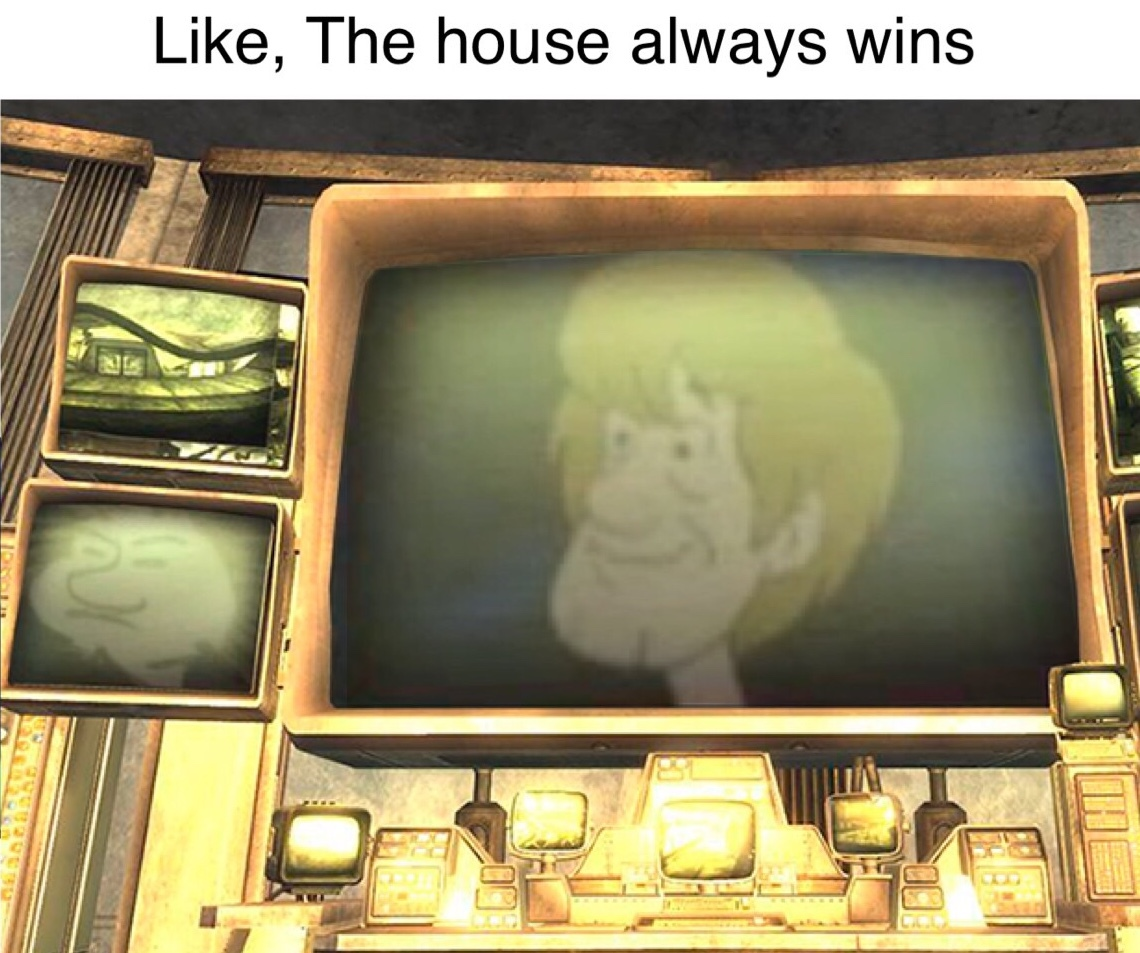 The one shaggy everybody forgot about, i heard he was shunned from the council because his mother was a mortal, he now resides in new Vegas - meme