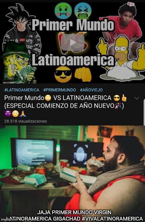 Quien cree que Latinoramerica es para gigachads :facepalm: - meme