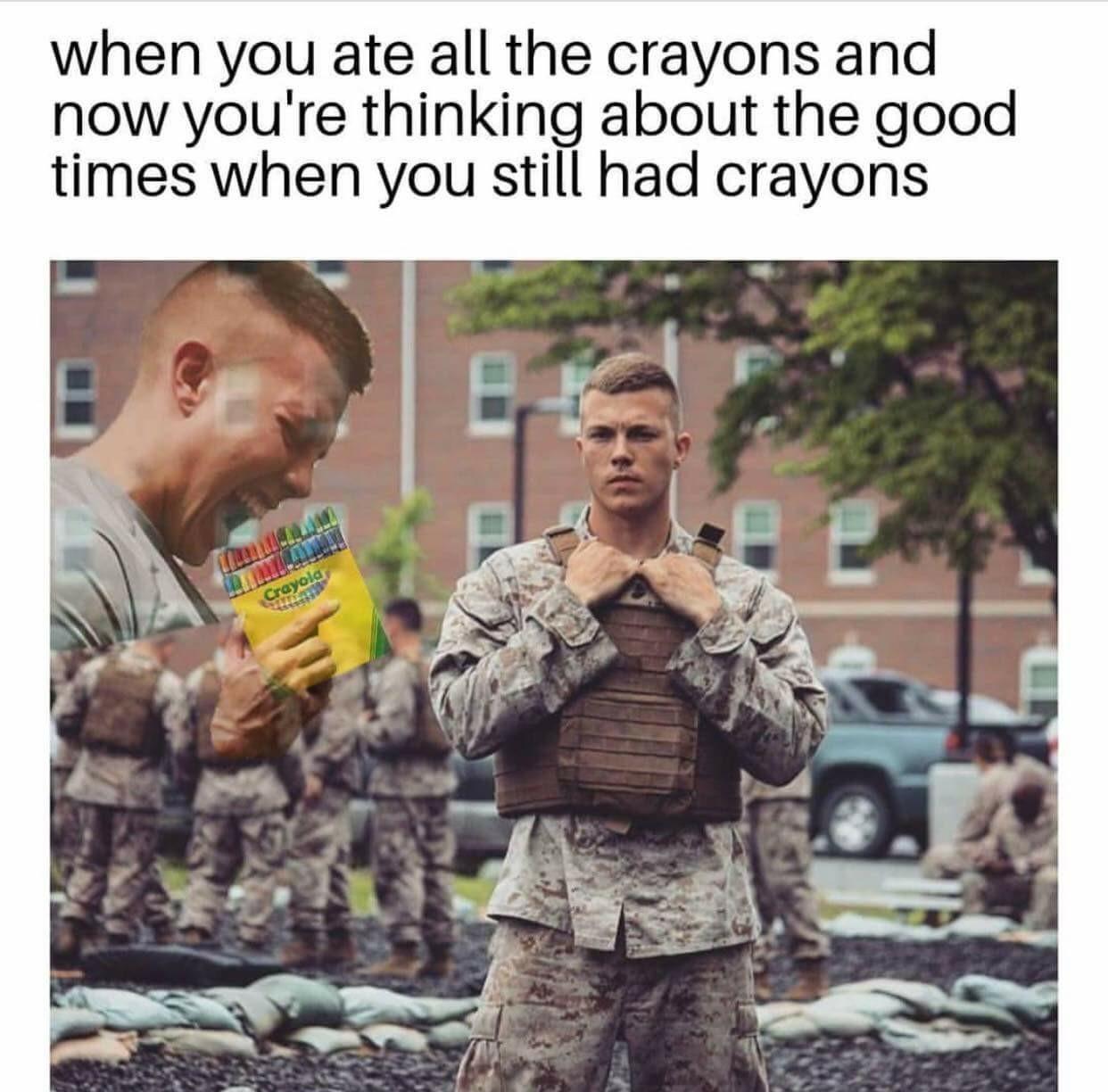 Green ones are my fav - meme