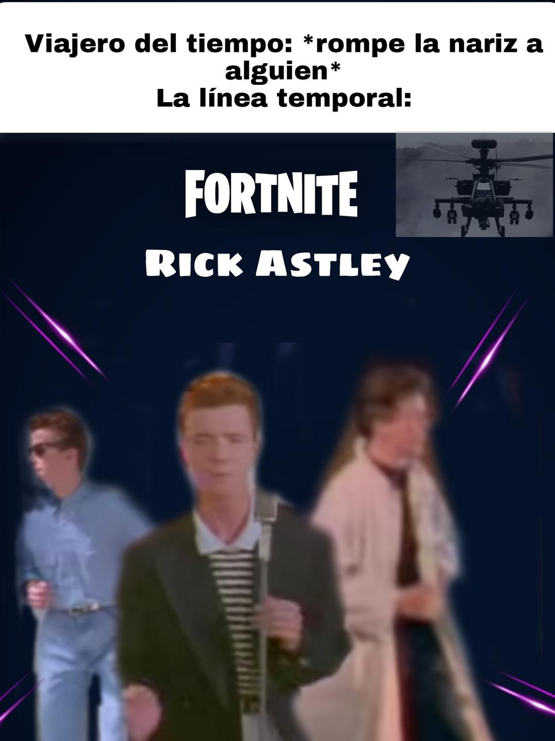 Estaría bien una skin de Rick Astley ya teniendo el baile de never Gona give - meme
