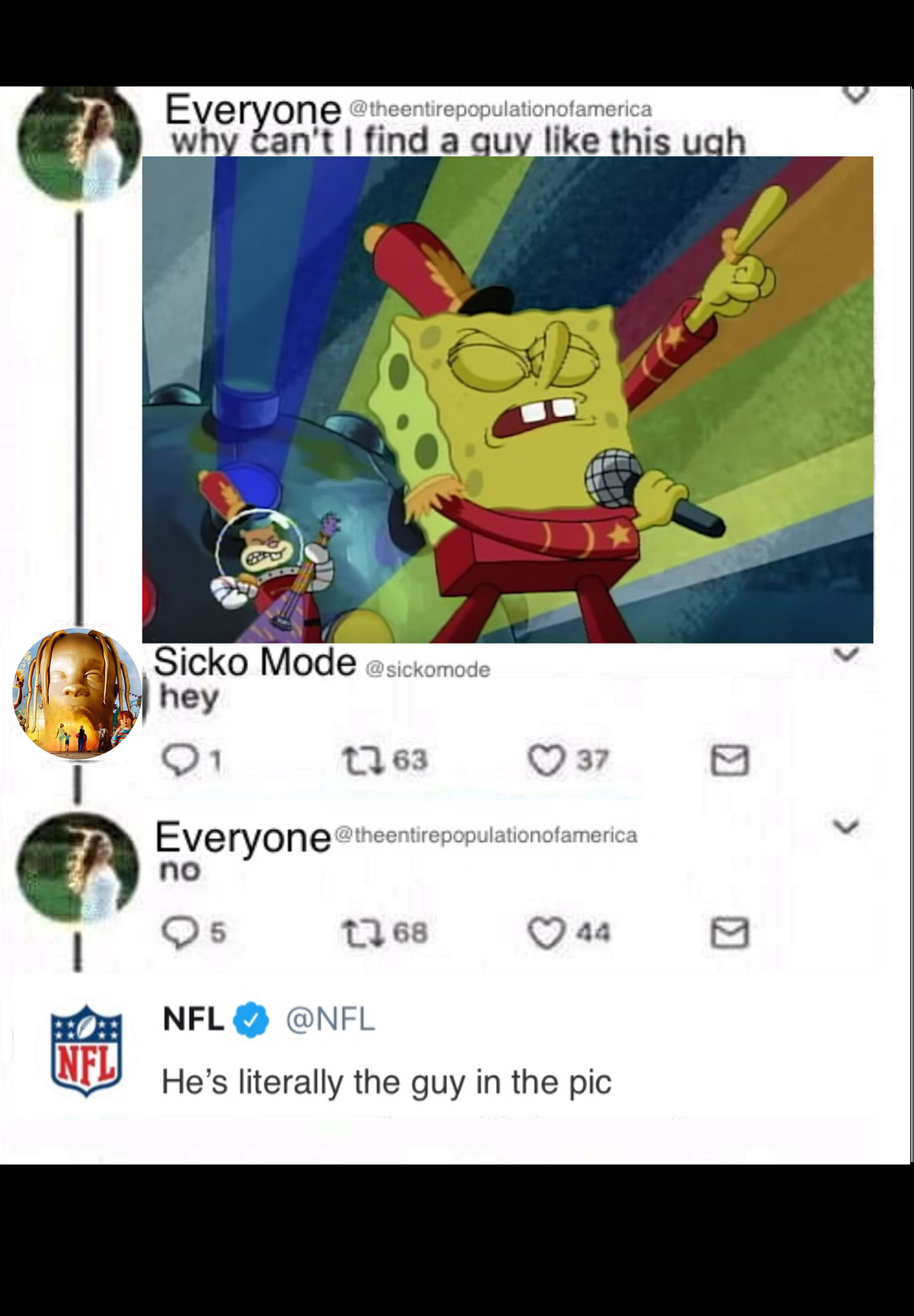 Sicko mode is ghey - meme