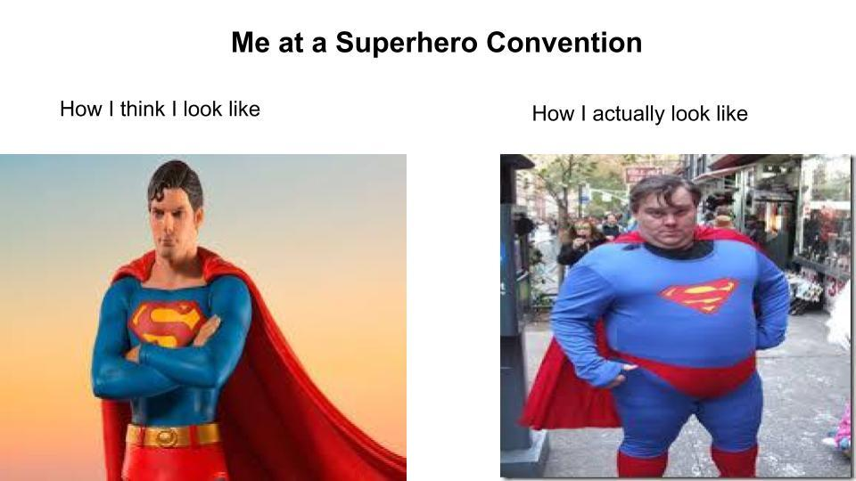 Superhero Conventions be like... - meme