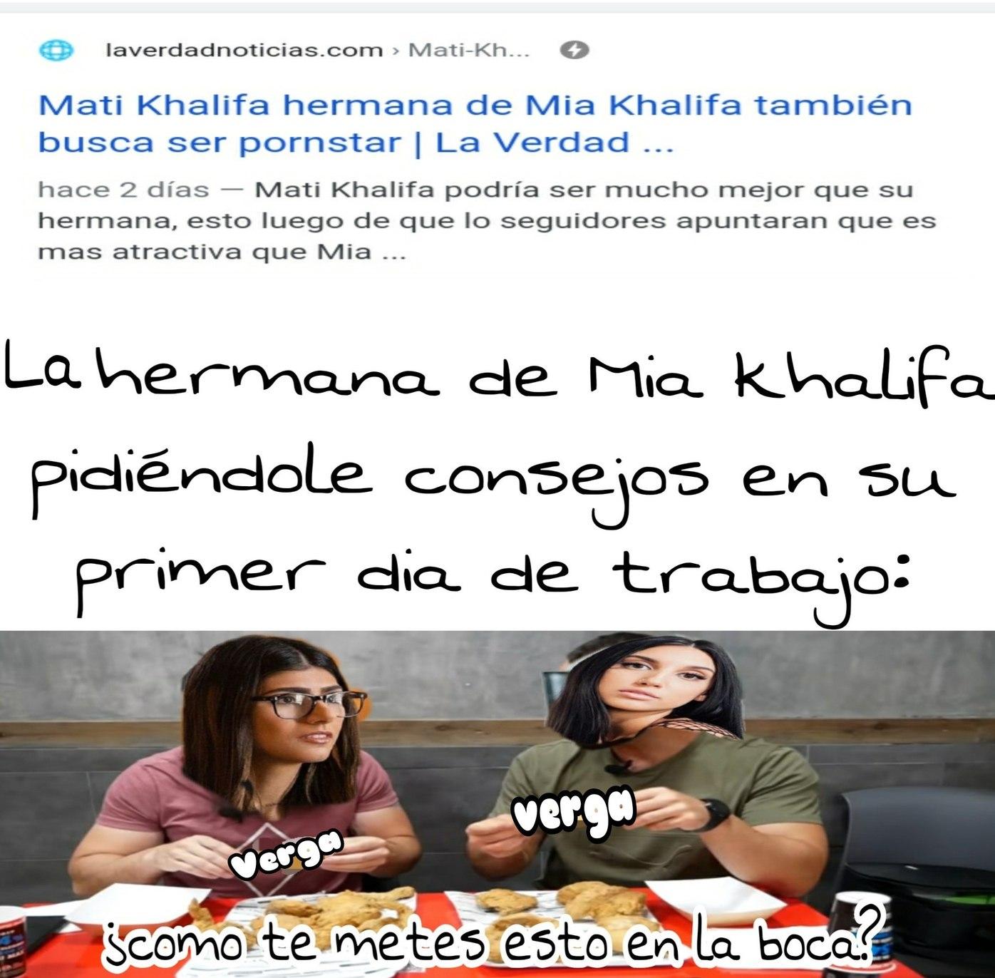 Confesión: nunca me he pajeado con mia khalifa, ni he visto sus videos, pero he visto imagenes y HOLLY MACARONI - meme