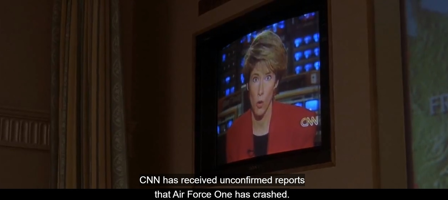 When Fake News was Started/Predicted - Air Force One 1997 - meme