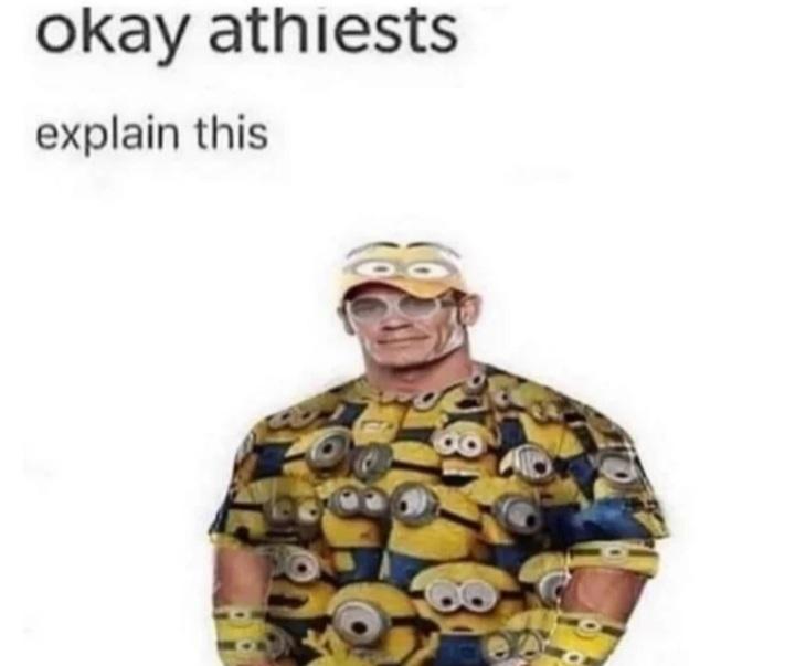 Expliquen esto ateos - meme